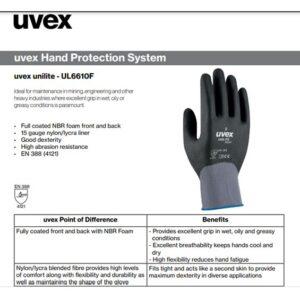 دستکش ضدبرش UVEX مدل Unilite 6610F